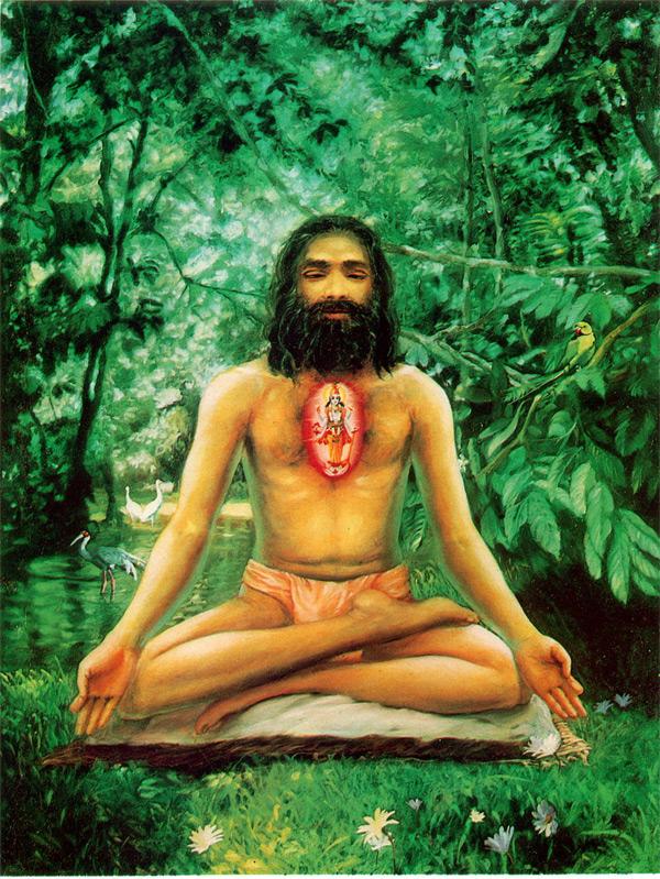 gita-125 Meditando en cin mudra