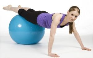 sobre pelota pilates